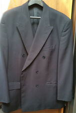 Men's Pierre Balmain Double Breast Suit Jacket Black in size UK 44S
