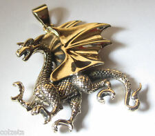 Own your own DRAGON  3D golden bronze pendant Game of Thrones 4.7cm by 4.5cm