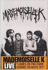 10256 // MADEMOISELLE K EN LIVE 2009 DVD NEUF SOUS BLISTER