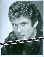 "David Hasselhoff Nice Early B&W 8x10 Photo ""Knight Rider"""
