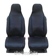 FRONT BLACK FABRIC SEAT COVERS 1+1 FOR VW GOLF POLO PASSAT BORA JETTA TIGUAN