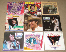 Elvis Presley Collection Set of 9 45's W/ Sleeves 1970/80's MINT