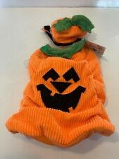 """BOOTIQUE Orange """"PUMPKIN PATCH PUP"""" Halloween Costume Puppy/Dog Small  A2"""