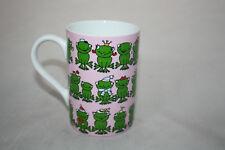 Frösche Tasse  Könitz Porzellan Frosch Frogs rosa 300ml Becher Cup 0,3L 2.Wahl