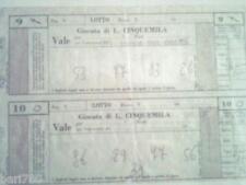 GIOCO DEL LOTTO - 2 GIOCATE DA 5 MILA LIRE - DEL 1994 INTROVABILI DA COLLEZIONE!