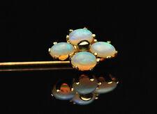14k Opal Cluster Flower Stick Pin
