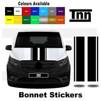 Bonnet Stripes Stickers for Mercedes VITO Vito Racing Vinyl Graphics Decals Merc