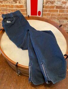 Quacker Factory Indigo Short DreamJeannes Ankle Pants Jeans Jeweled Zipper New