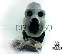 USSR military paratrooper gas mask PBF. Grey rubber mask EO-19