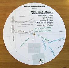 """Thomas SCHICK 12"""" Custom progettato Cartuccia Stylus BRACCIO allineamento Goniometro"""