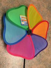 HOME GARDEN Multicolor Flower-Shaped Pinwheels spinner, 21 in., new