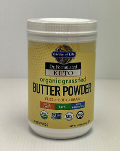 Keto Butter Powder Garden of Life Organic Grass Fed Fuel 30 Servings Exp. 04/21