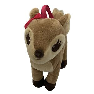 Gymboree Woodland Friends Deer Tan Brown Tote Purse Plush Handle Fall Pink Bow