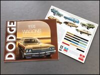 1974 Dodge Monaco and Coronet Station Wagon Original Car Sales Brochure Catalog