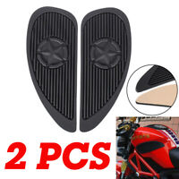 2X Universal Motorcycle Tank Traction Pad Side Gas Knee Grip Protector Sticker