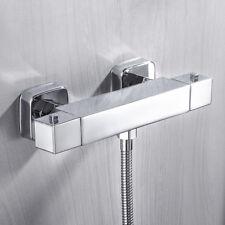 Grifo Mezclador termostático cuadrado moderno de ducha expuesto Válvula cobre
