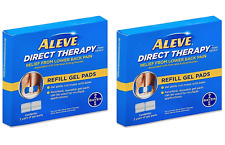 2 Pack Aleve Direct Therapy TENS Device Refill Gel Pads 2x 2 Ct 4 Pairs Exp12/18