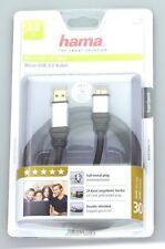 2 Stück - Hama USB 3.0 Verbindungskabel Micro A auf Micro B Stecker Adapter USB