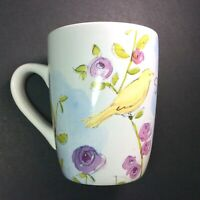 Kathy Davis ScatterJoy Mug Flowers Bird Garden 'Live Simply' Coffee Tea Cup