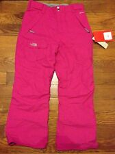 NWT THE NORTH FACE FREEDOM HYVENT INSULATED SKI SNOW PANTS GIRL'S XL 18 PINK