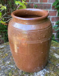 Vintage Decorative Victorian Weathered Stone Urn Pot Garden Planter - Beautiful!