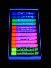 UV Schwarzlicht Neon Kreide Set Soft Pastell Ölkreide 2x6 Farben