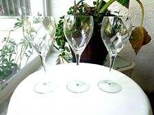 "Set of 3 Spiral Optic Stemware Clear Wine Glasses 8 1/2"" Tall"