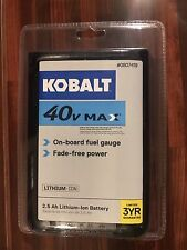 Kobalt 40V Max 2.5 Ah Lithium-Ion Battery w/ Fuel Gauge NEW