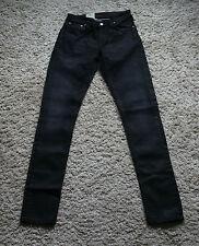 NEU Nudie Jeans Skinny LIN (skinny legs) Organic INK BLACK 28/32