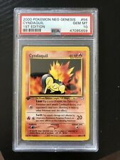2000 POKEMON NEO GENESIS 1ST EDITION #56 CYNDAQUIL PSA 10 Gem Mint