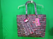 Betsey Johnson 2 IN 1 Tote Bag, Black/Red NWT
