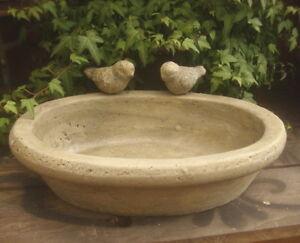 Abreuvoir Piscine pour Oiseaux Pot 2 Dans Style Rustique Antique Jardin Neuf