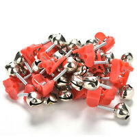 20 PCS Tackle Rod Clamp Sea Fishing Tip Bite Lure Alarm Twin Bell Ring Clip E Fs