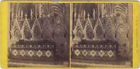 Cattedrale Da Hereford UK Foto Stereo Vintage Albumina Ca 1865