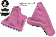 PINK TOP GRAIN REAL LEATHER GAITER SET FOR VAUXHALL OPEL ASTRA MK5 H 2004-2009
