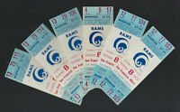 1972 NFL SAN FRANCISCO 49ERS @ LOS ANGELES RAMS FULL UNUSED FOOTBALL TICKETS (6)