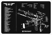 """NEW! TEKMAT ARMORERS BENCH MAT 11""""X17"""" 1911 PISTOL 17-1911"""