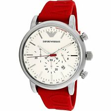 Emporio Armani Men's AR11021 Red Silicone Quartz Fashion Watch