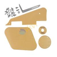 Cream 1Ply LP Guitar Pickguard Back Plates Bracket & Screws for LP Style Guitar