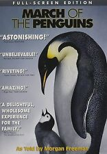 March of the Penguins (2005 Warner Full-Screen DVD) BRAND NEW FACTORY SEALED
