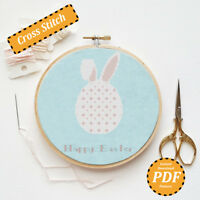 Cross Stitch PDF pattern - Happy Easter - Home Decor - 023