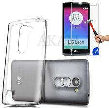Soft Crystal Clear Gel Case With Free Real Tempered Glass LG Leon 4G LTE H340N
