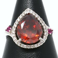 Large 6 Ct Pear Red Ruby Ring Women Wedding Engagement Jewelry Size 5 6 7 8 9