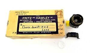 Vintage Used 155640 Movie Camera England Cooke Anastigmatic F1:8 Lens Parts
