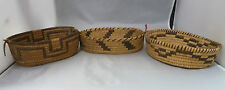 """Native American Weave 3 Piece Covered Bowl. Very Nice Design. Approx 7.5"""" Long"""