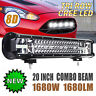 Tri-Row 20inch 1680W CREE LED Light Bar 8D Spot Flood Combo Truck Offroad 6000K