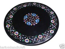 2'x2' Marble Coffee Table Top Turquoise Mother Of Pearl Inlay Garden Deco H1523