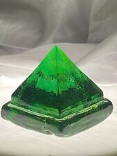 Deck prism paperweight green