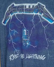 Metallica Ride The Lightning Album Blue T Shirt Size XXL Excellent