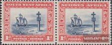 Namibië - Southwest 142-143 horizontaal Echtpaar met Fold 1931 Landesmotive